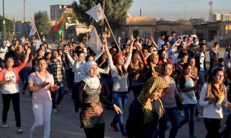 Demonstration in Rojava/West-Kurdistan